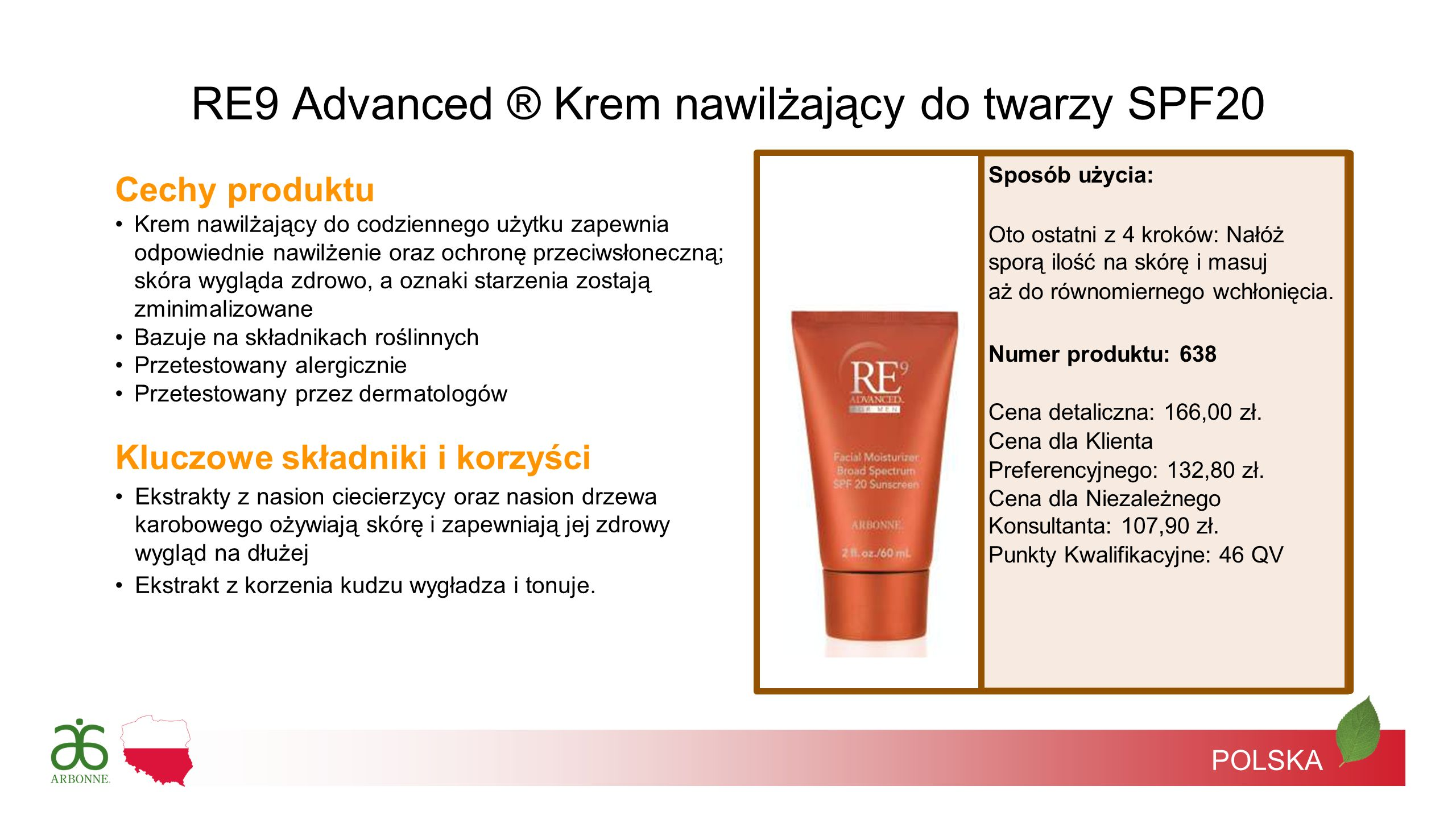 RE9 Advanced ® Krem nawilżający do twarzy SPF20