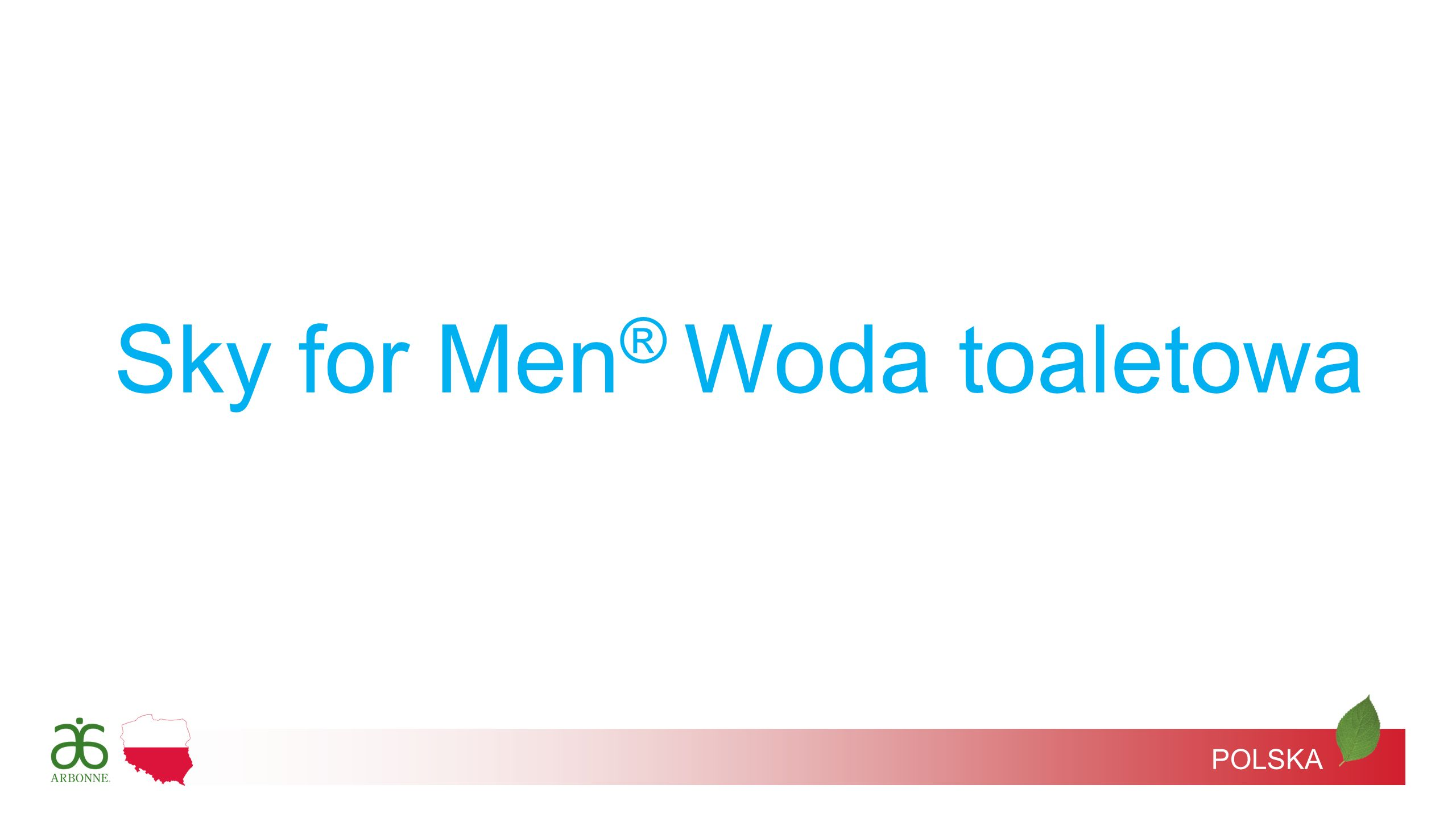 Sky for Men® Woda toaletowa