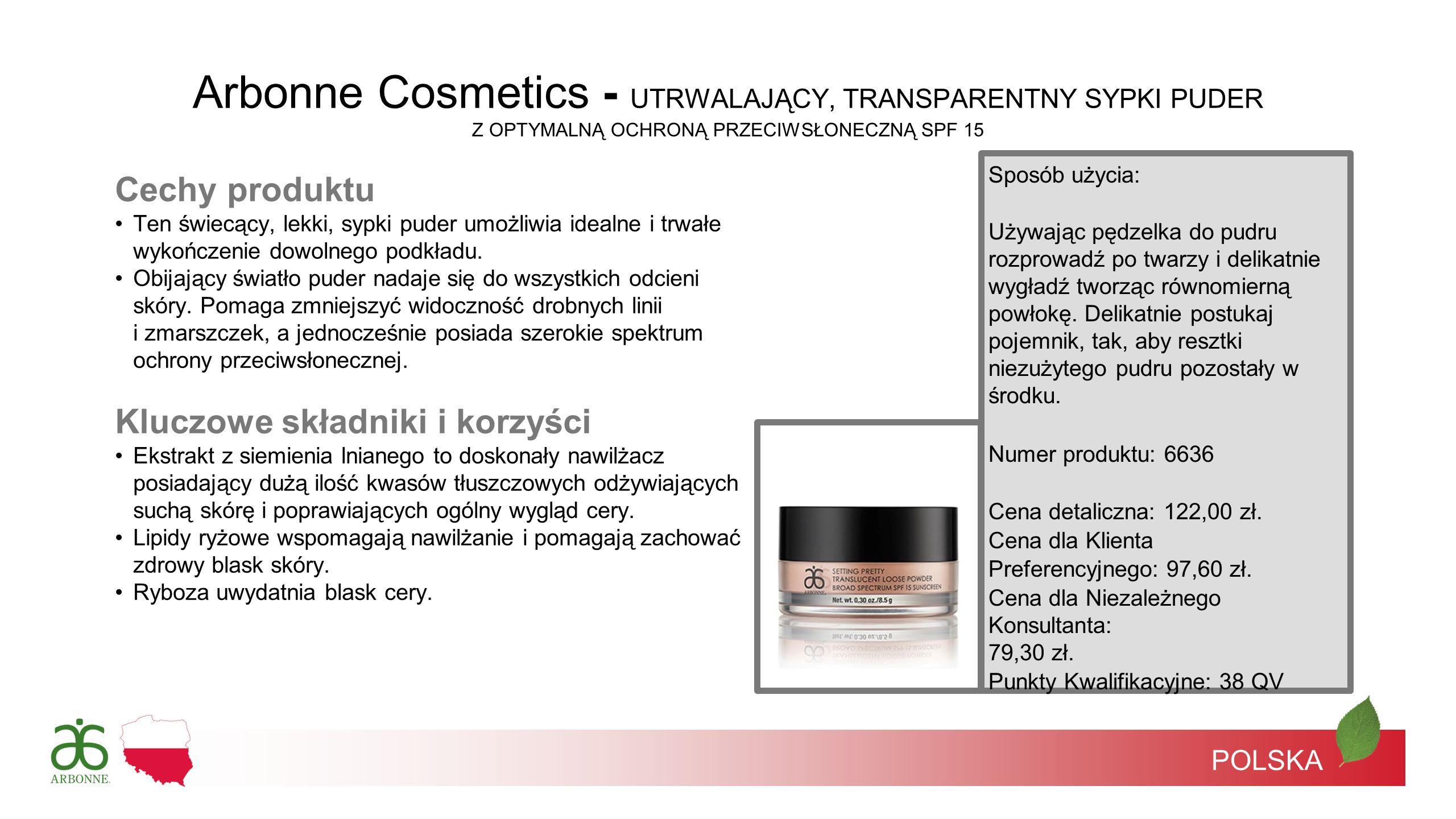 Arbonne Cosmetics - UTRWALAJĄCY, TRANSPARENTNY SYPKI PUDER