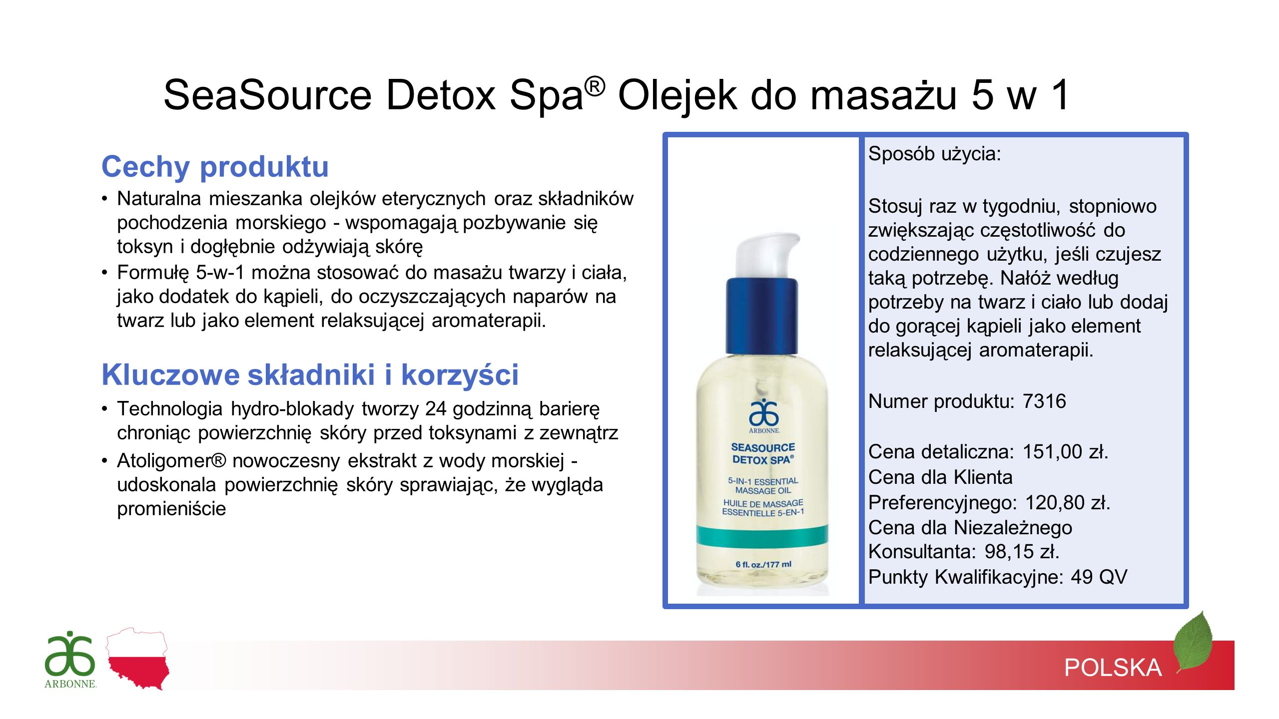 SeaSource Detox Spa® Olejek do masażu 5 w 1