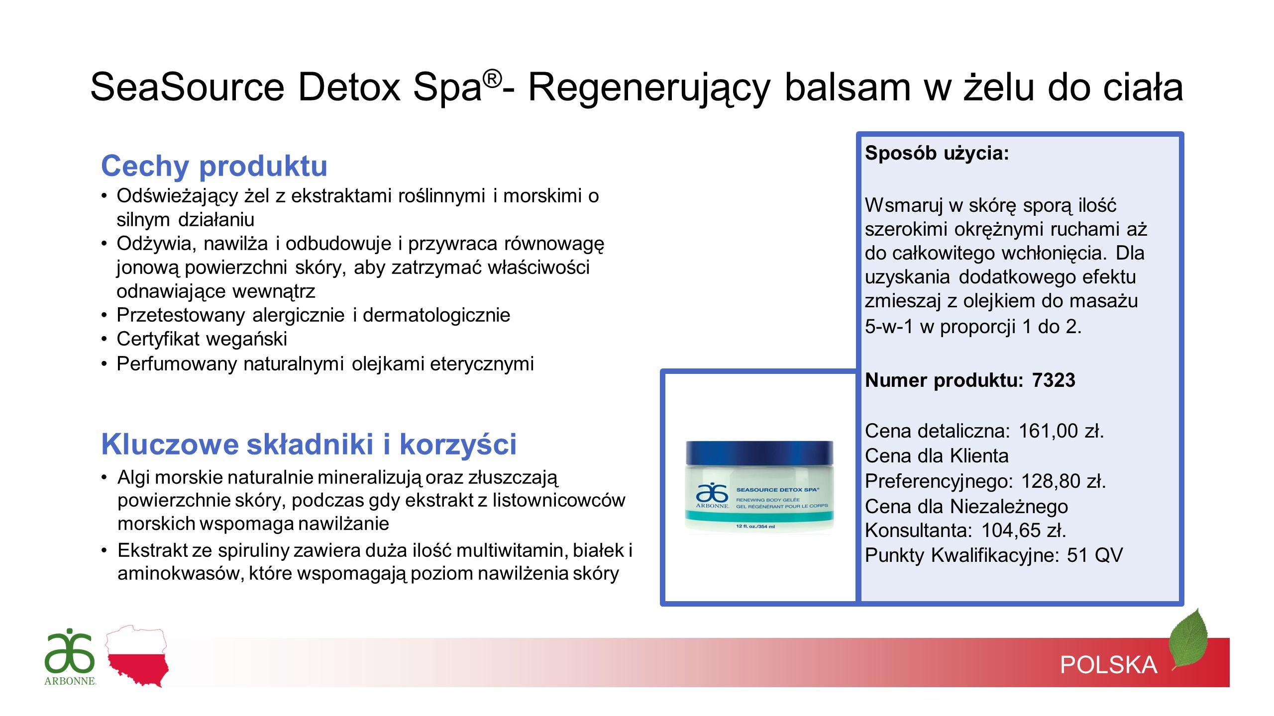 SeaSource Detox Spa®- Regenerujący balsam w żelu do ciała