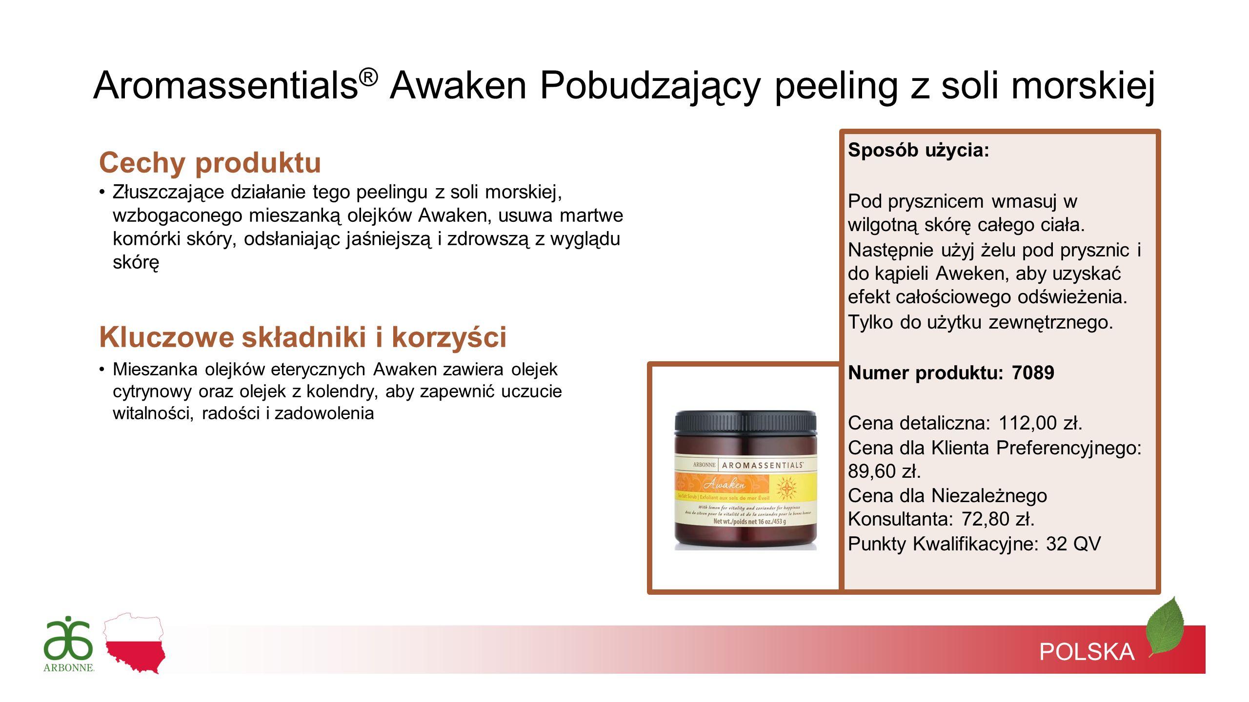 Aromassentials® Awaken Pobudzający peeling z soli morskiej