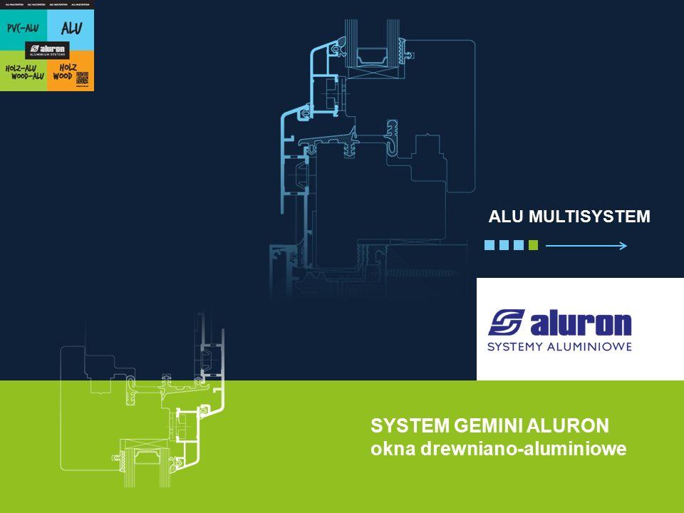 SYSTEM GEMINI ALURON okna drewniano-aluminiowe