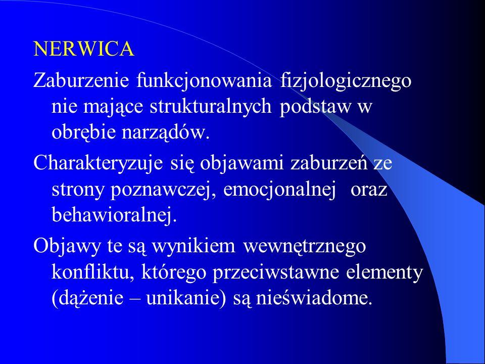 NERWICA Zaburzenie funkcjonowania fizjologicznego nie mające strukturalnych podstaw w obrębie narządów.