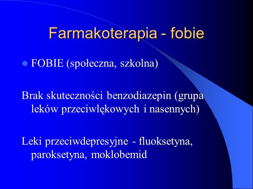 Farmakoterapia - fobie