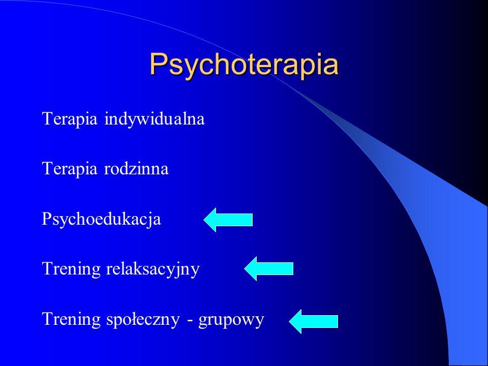 Psychoterapia Terapia indywidualna Terapia rodzinna Psychoedukacja