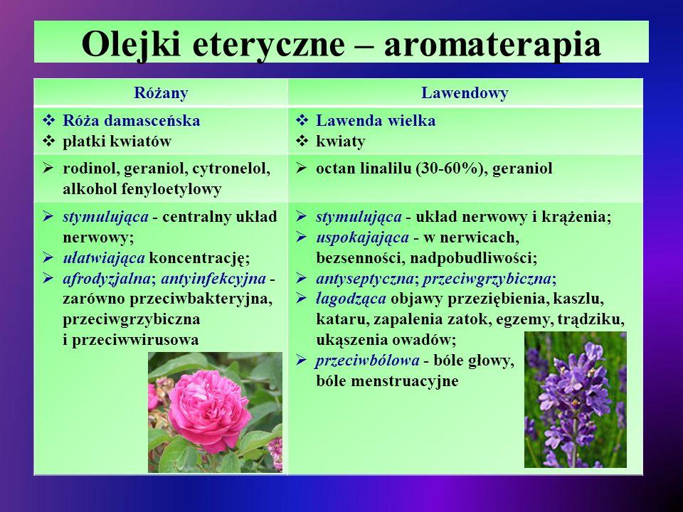 Olejki eteryczne – aromaterapia