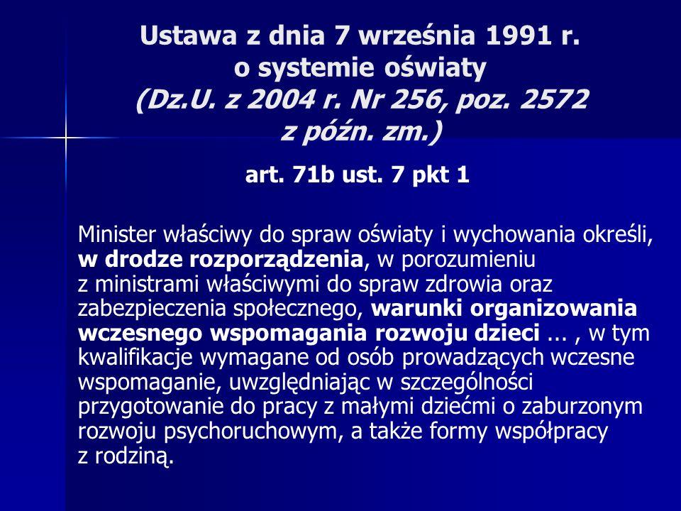 Ustawa z dnia 7 września 1991 r. o systemie oświaty (Dz. U. z 2004 r