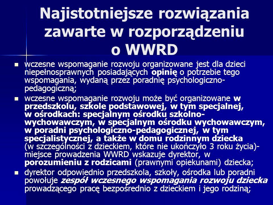 Najistotniejsze rozwiązania zawarte w rozporządzeniu o WWRD