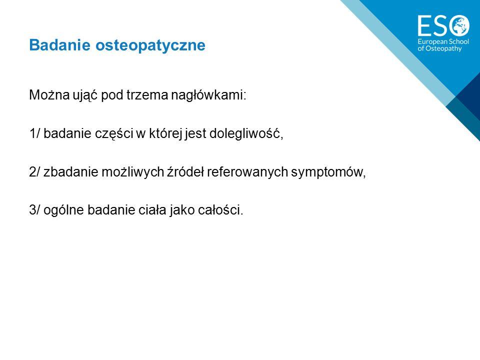 Badanie osteopatyczne