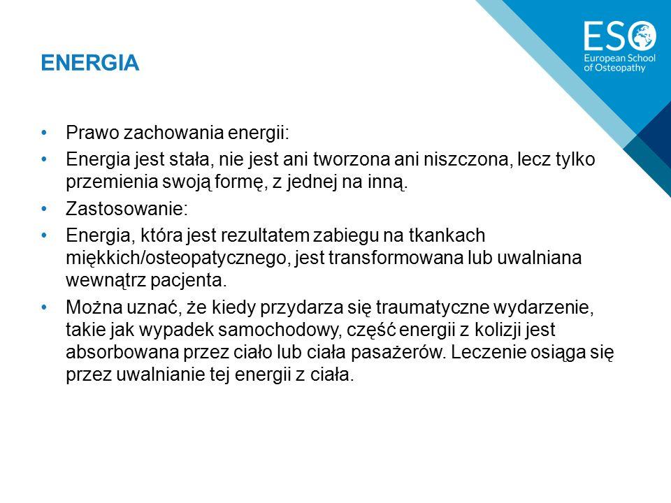 ENERGIA Prawo zachowania energii: