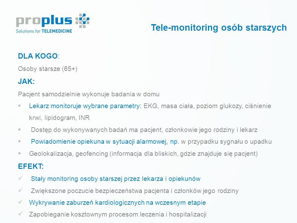 Tele-monitoring osób starszych