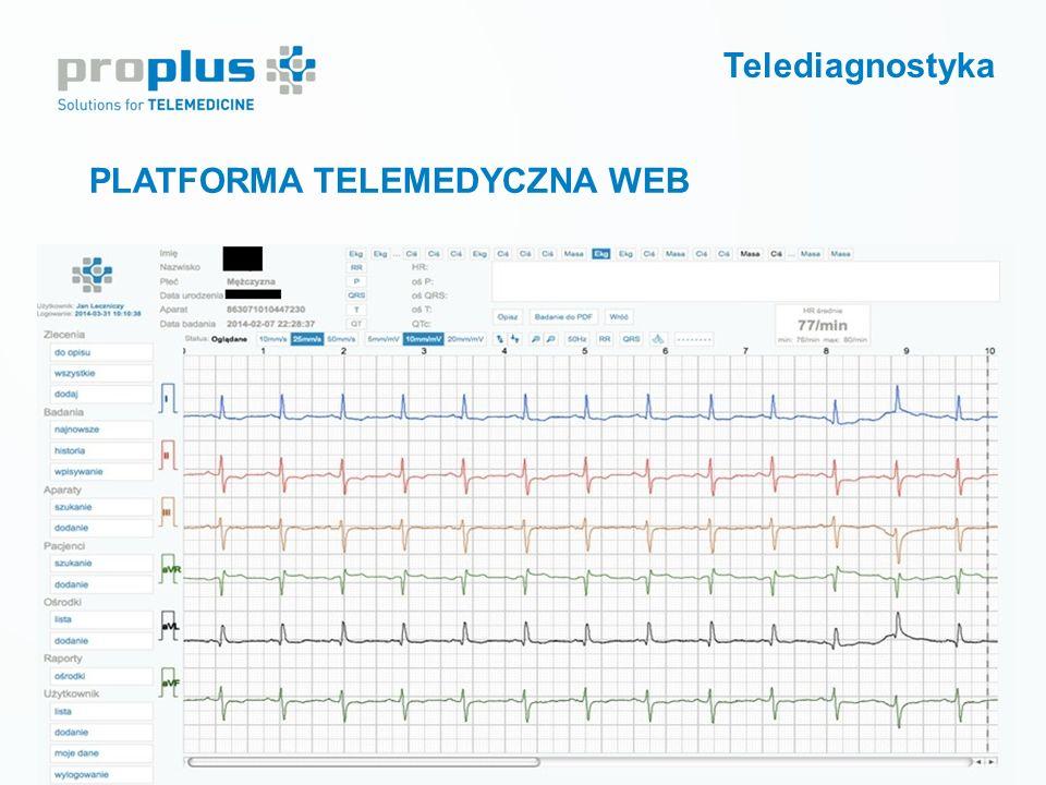 Telediagnostyka PLATFORMA TELEMEDYCZNA WEB