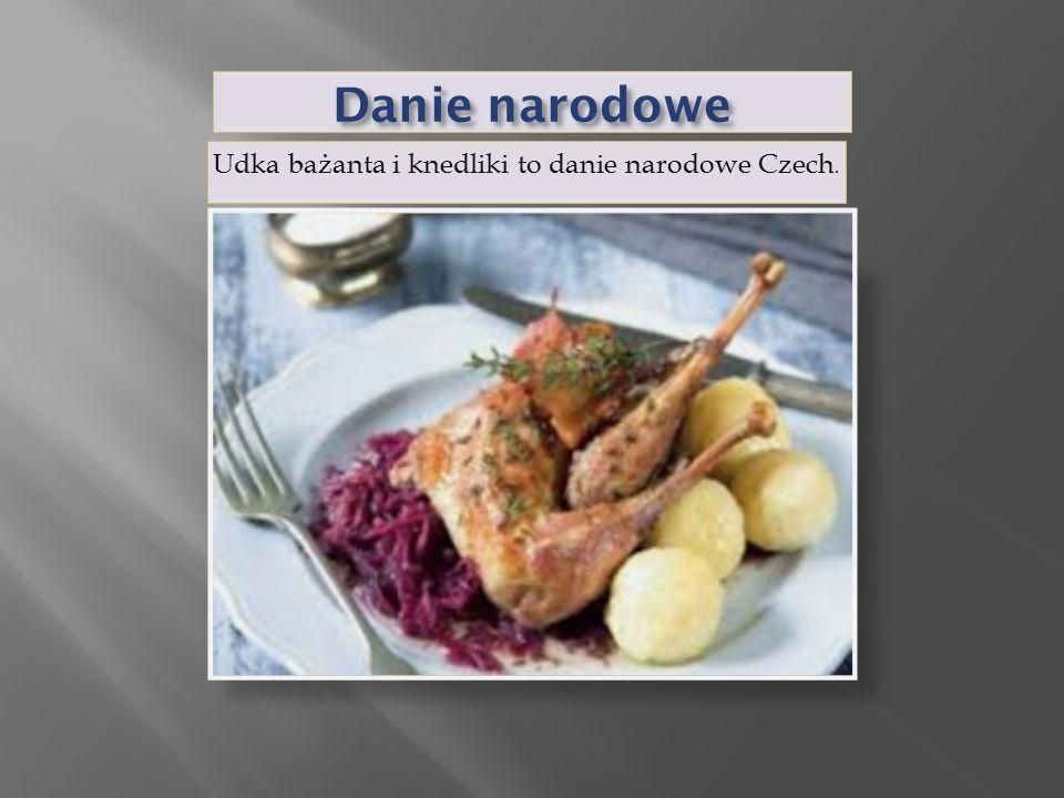 Udka bażanta i knedliki to danie narodowe Czech.