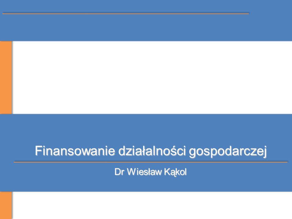 Finansowanie działalności gospodarczej