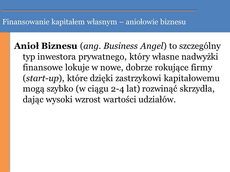 Finansowanie kapitałem własnym – aniołowie biznesu