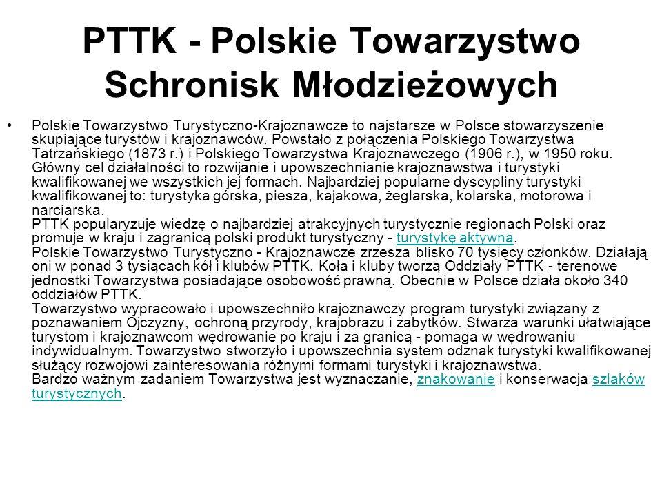 PTTK - Polskie Towarzystwo Schronisk Młodzieżowych