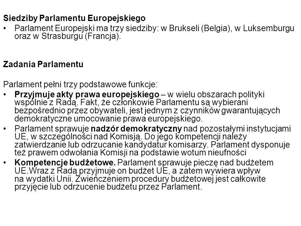 Siedziby Parlamentu Europejskiego