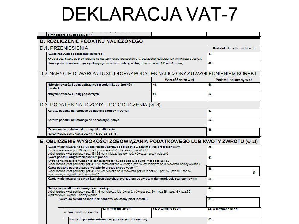 DEKLARACJA VAT-7