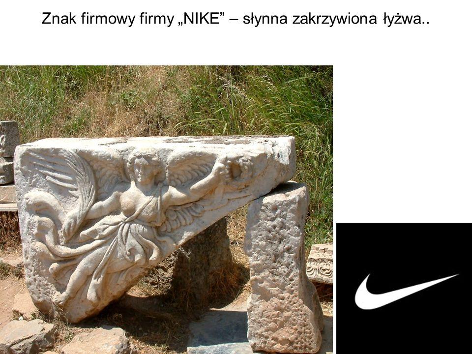 """Znak firmowy firmy """"NIKE – słynna zakrzywiona łyżwa.."""