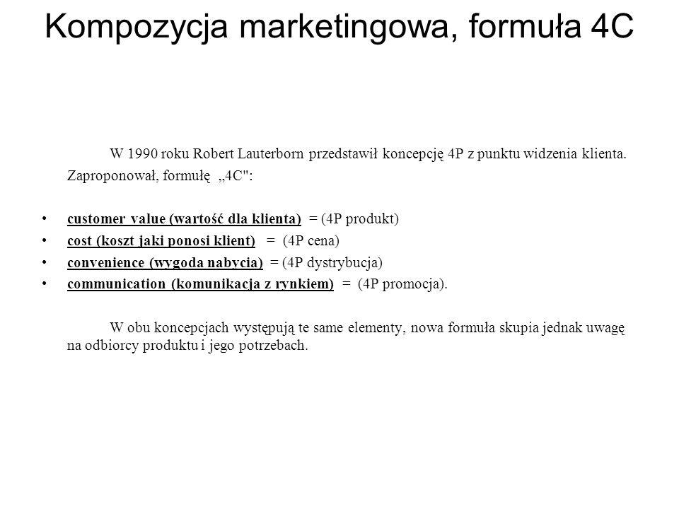 Kompozycja marketingowa, formuła 4C