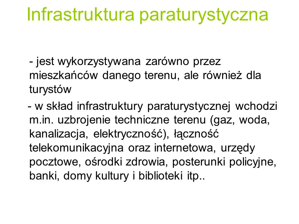 Infrastruktura paraturystyczna