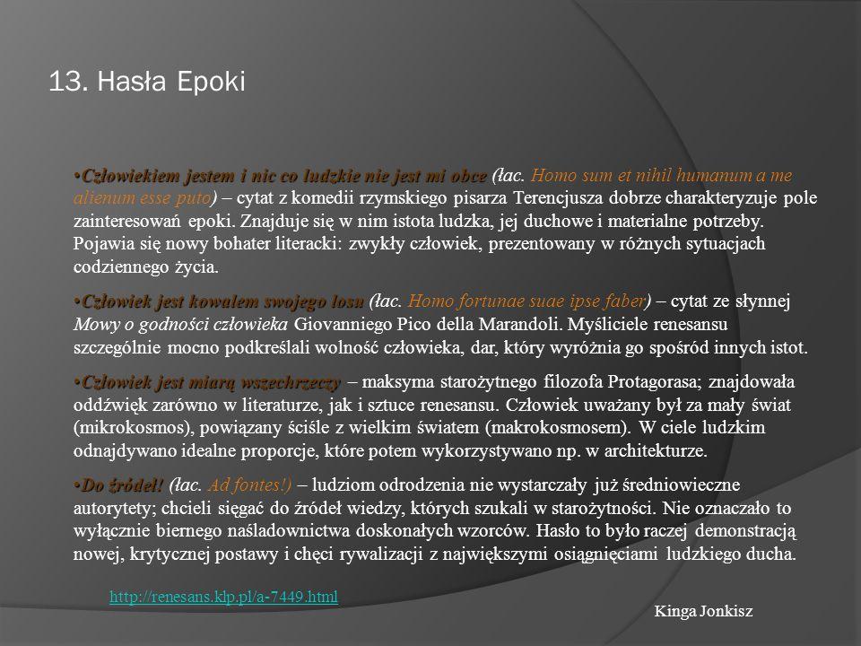 13. Hasła Epoki