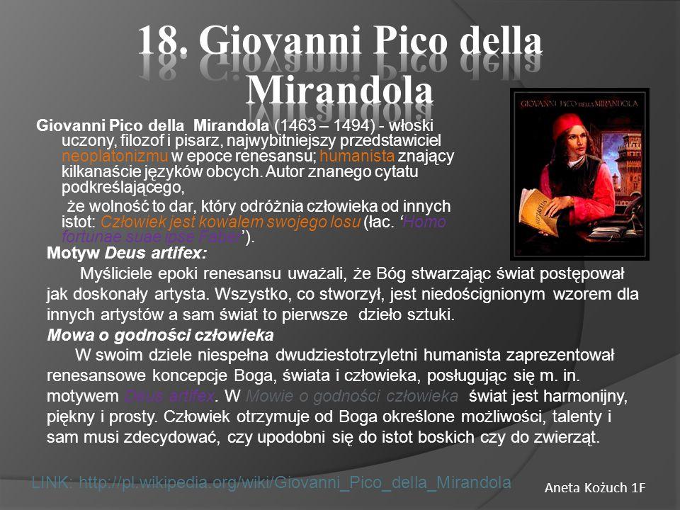 18. Giovanni Pico della Mirandola