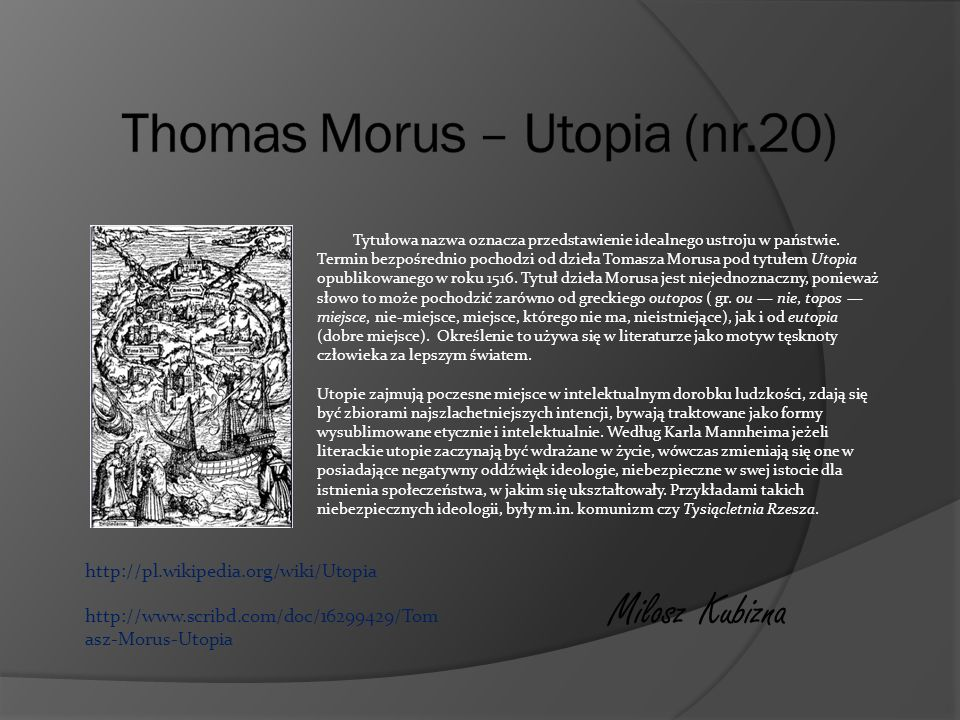 Thomas Morus – Utopia (nr.20)