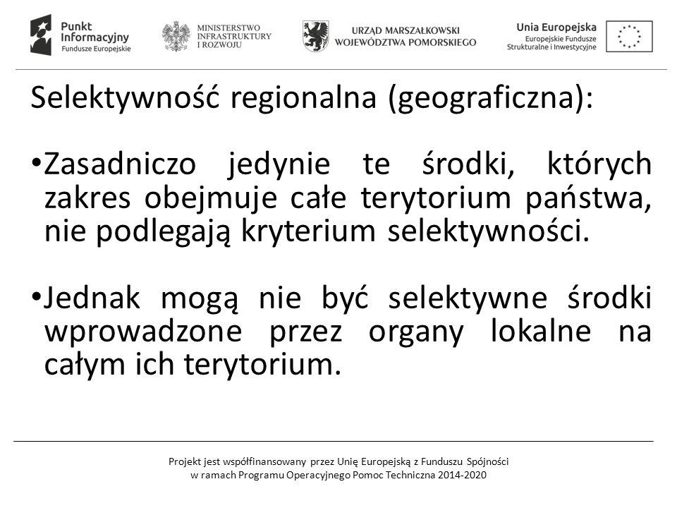 Selektywność regionalna (geograficzna):