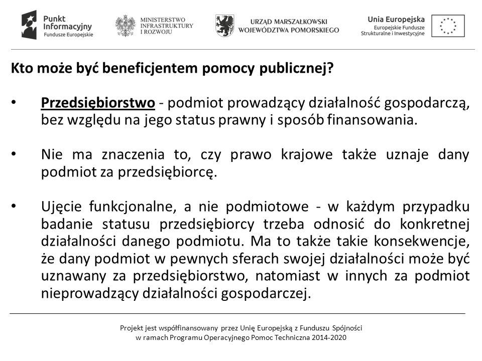 Kto może być beneficjentem pomocy publicznej