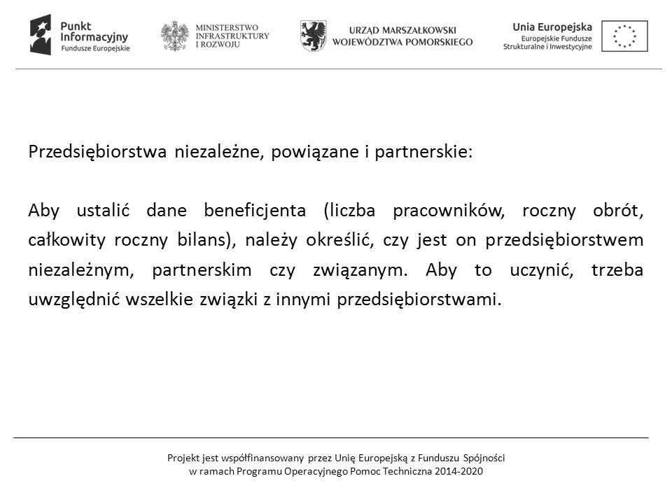 Przedsiębiorstwa niezależne, powiązane i partnerskie: