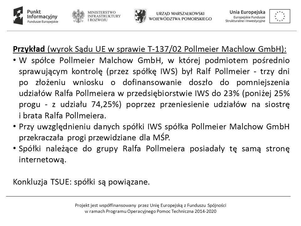 Przykład (wyrok Sądu UE w sprawie T-137/02 Pollmeier Machlow GmbH):