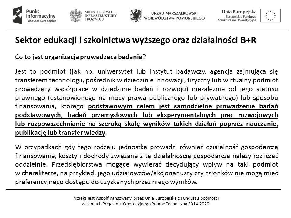 Sektor edukacji i szkolnictwa wyższego oraz działalności B+R