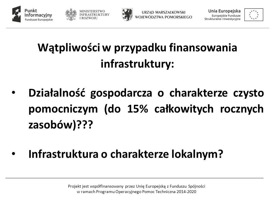 Wątpliwości w przypadku finansowania infrastruktury: