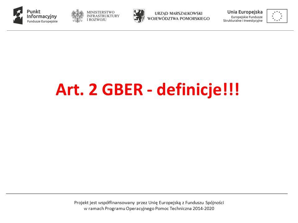 Art. 2 GBER - definicje!!!