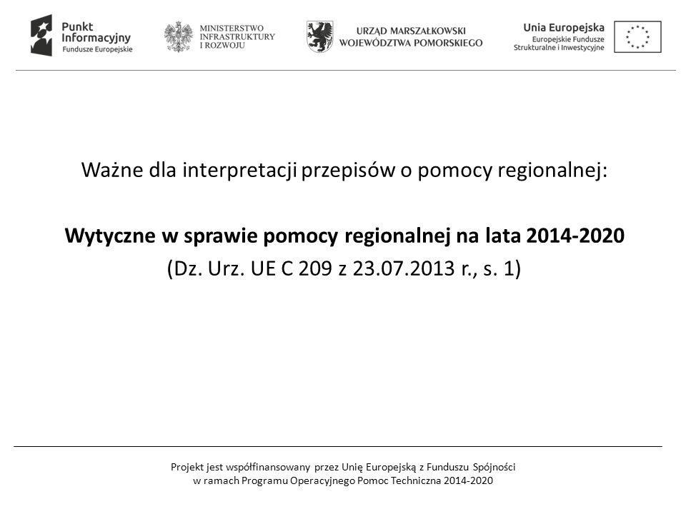 Wytyczne w sprawie pomocy regionalnej na lata 2014-2020