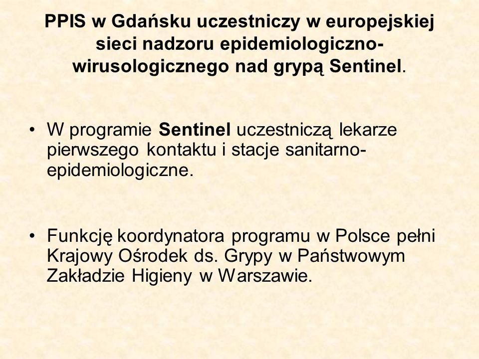 PPIS w Gdańsku uczestniczy w europejskiej sieci nadzoru epidemiologiczno-wirusologicznego nad grypą Sentinel.