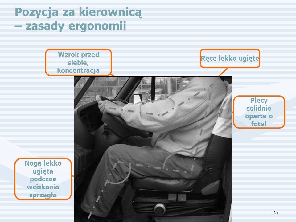 Pozycja za kierownicą – zasady ergonomii