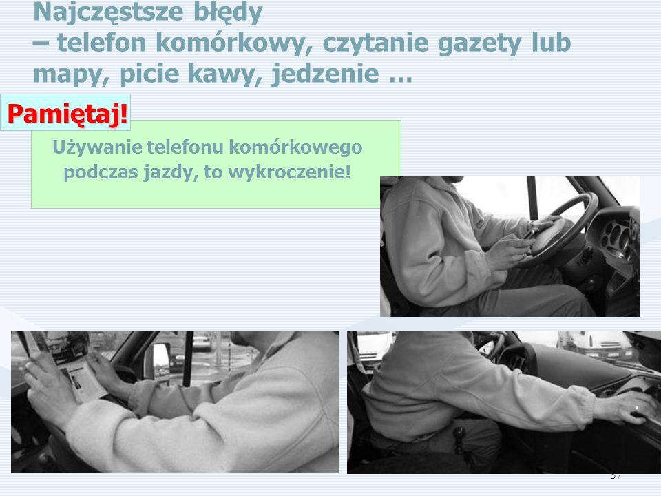 Używanie telefonu komórkowego podczas jazdy, to wykroczenie!