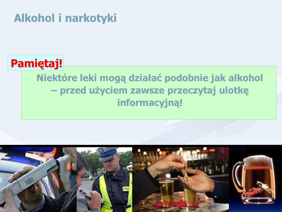 Alkohol i narkotyki Pamiętaj!