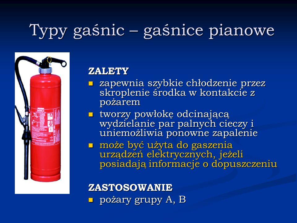 Typy gaśnic – gaśnice pianowe