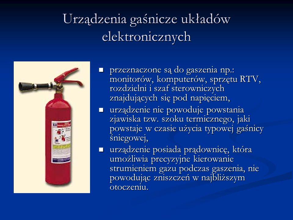 Urządzenia gaśnicze układów elektronicznych
