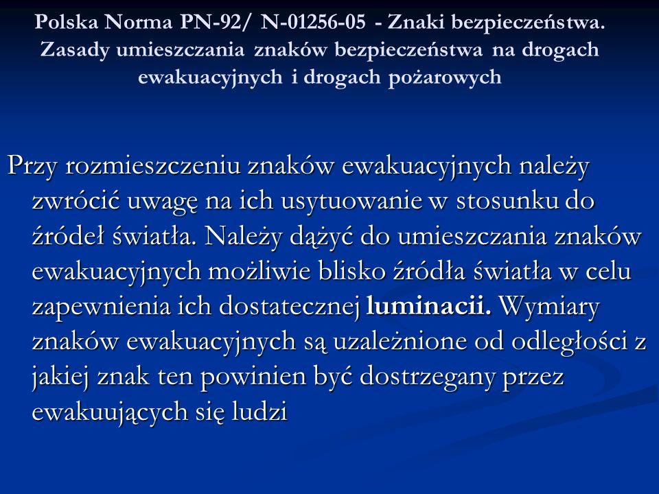 Polska Norma PN-92/ N-01256-05 - Znaki bezpieczeństwa