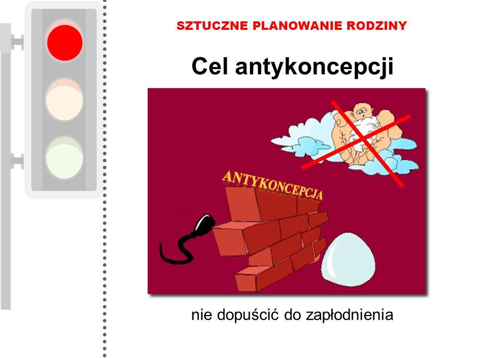 Cel antykoncepcji nie dopuścić do zapłodnienia ANTYKONCEPCJA