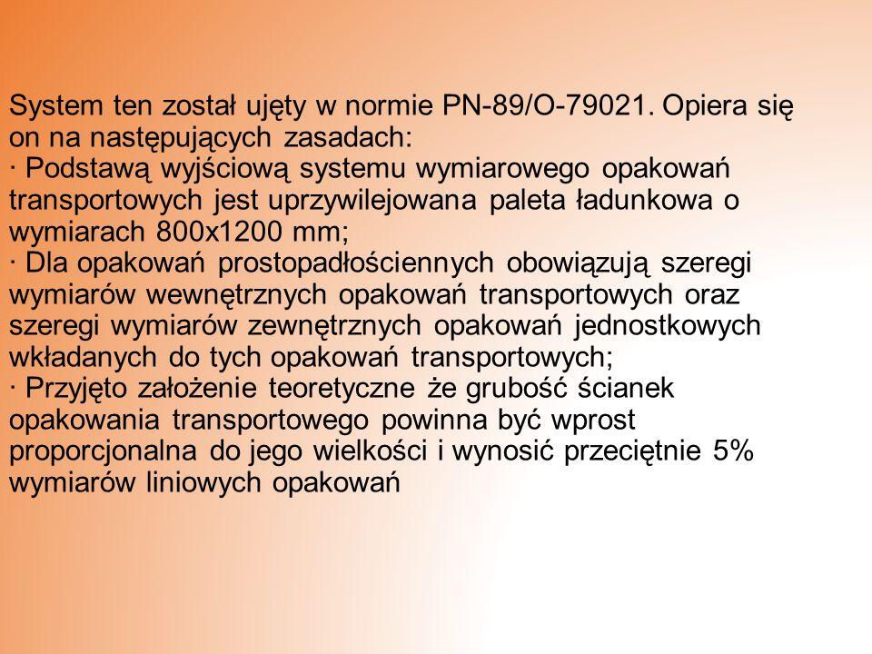 System ten został ujęty w normie PN-89/O-79021