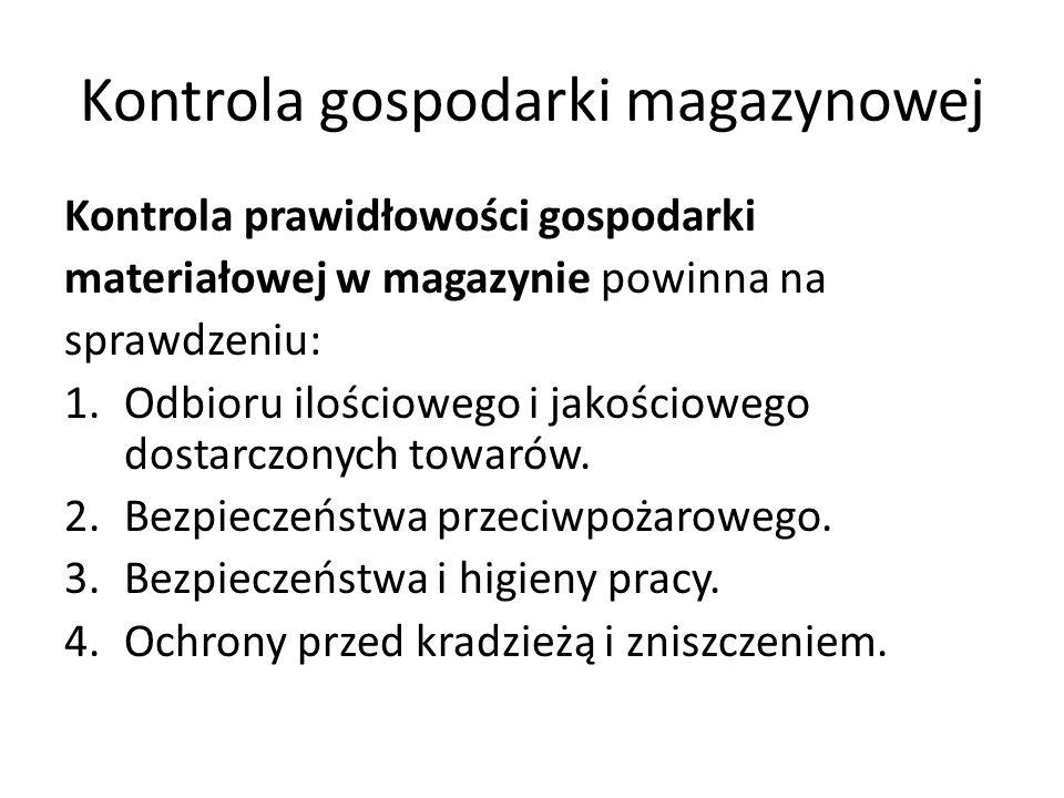 Kontrola gospodarki magazynowej