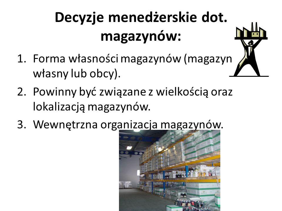 Decyzje menedżerskie dot. magazynów: