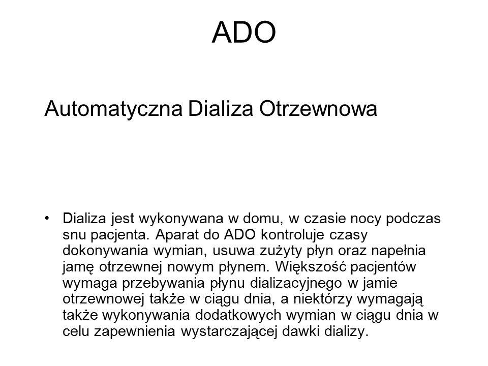 ADO Automatyczna Dializa Otrzewnowa