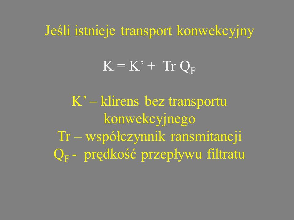 Jeśli istnieje transport konwekcyjny K = K' + Tr QF